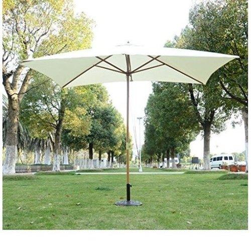 Outsunny 2m x 3m Wooden Parasol | Outdoor Umbrella
