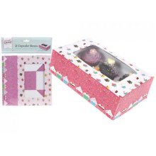 Large Set Of 2 Cupcake Boxes - Box Luxury Muffin Gift Bakeware Pack -  cupcake 2 large box luxury muffin gift boxes bakeware pack