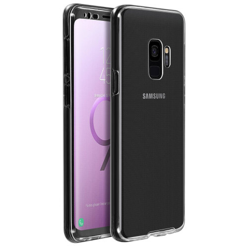 Silicone clear case + touch screen front cover for Samsung Galaxy S9