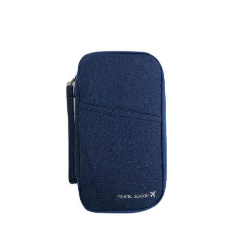 Vinsani Travel Passport and Document Holder - Navy Blue