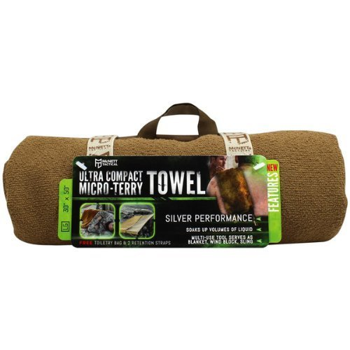 McNett Tactical Ultra Compact Micro Terry Towel Large Coyote
