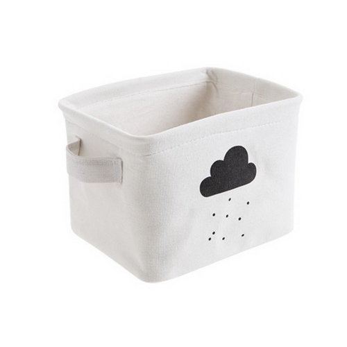 Household Cloth Storage Basket Desktop Toy Snacks Sundries Storage Basket, Cloud