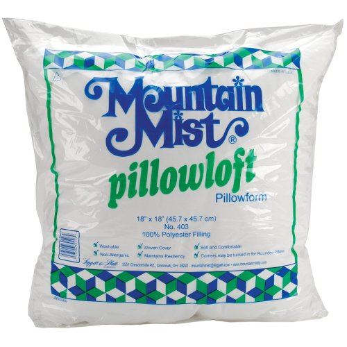 "Mountain Mist Pillowloft Pillowform-18""X18"" FOB: MI"