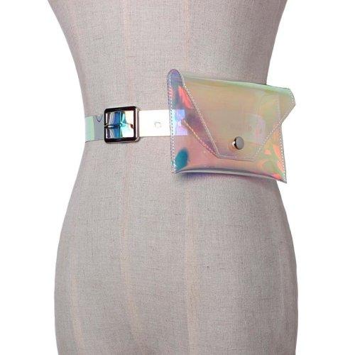 2018 fashion transparent belts bag hologram fanny pack women men clear waist bag laser pack holographic pouch belt bag chest bag