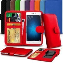 """iTronixs - Alcatel Shine Lite (5"""") High Quality Clamp Style PU Leather Wallet Case Cover"""