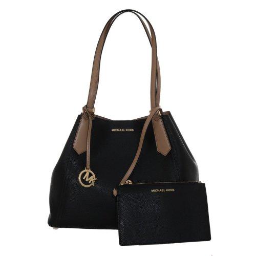 7f2d762784d5 Michael Kors Handbags Black KIMBERLY Leather Shoulder Bag on OnBuy