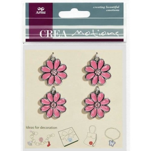 Flower Pink Charms By Artoz