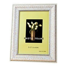 Set Of 2 Decorative Polyresin 4-by-6-Inch Picture Photo Frame, White