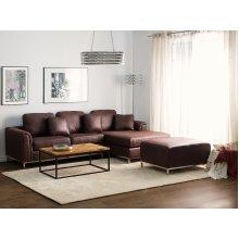 Left Hand Corner Sofa Silver Legs OSLO