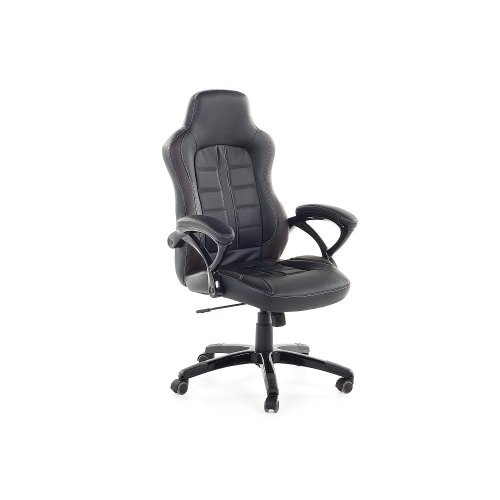 Gaming chair - Computer chair - Swivel - Mesh - Black and dark brown - PRINCE