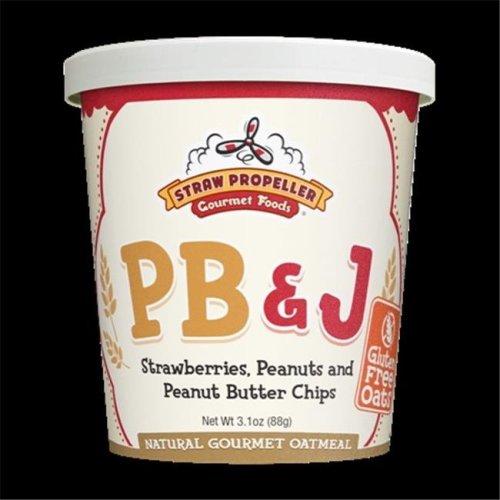 Straw Propeller Gourmet Foods 3.1 oz. PB & J Hot Oatmeal, Case Pack 12