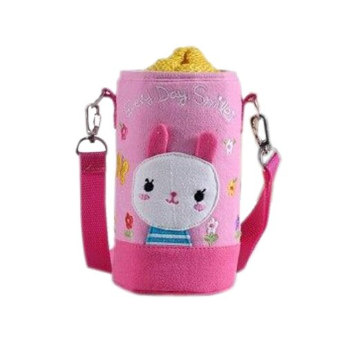 Lovely Kindergarten Funny Rabbit Bottle Messenger Bag (15*8.5CM)