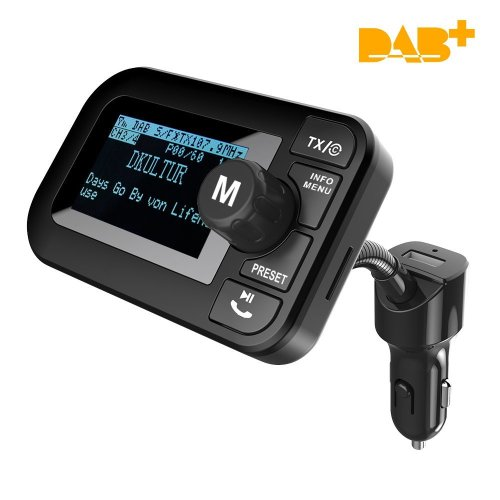 Fersk Car DAB Digital Radio, FM Transmitter Bluetooth Handsfree Car Kit YS-86