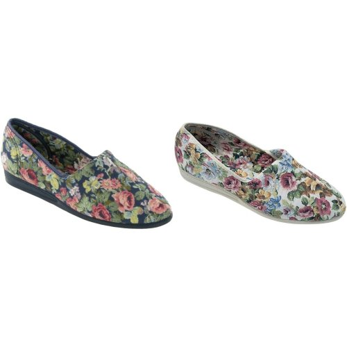 Mirak Womens/Ladies Patricia Cotton Slip-On Summer Shoes