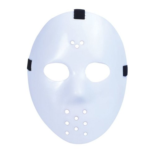 White Halloween Jason Hockey Mask -  mask hockey fancy dress jason halloween white party horror movie accessory adult new festival