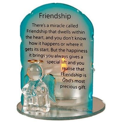 Friendship Angel Candle / Candleholder with Prayer Miracle Called  Friendship (5054)