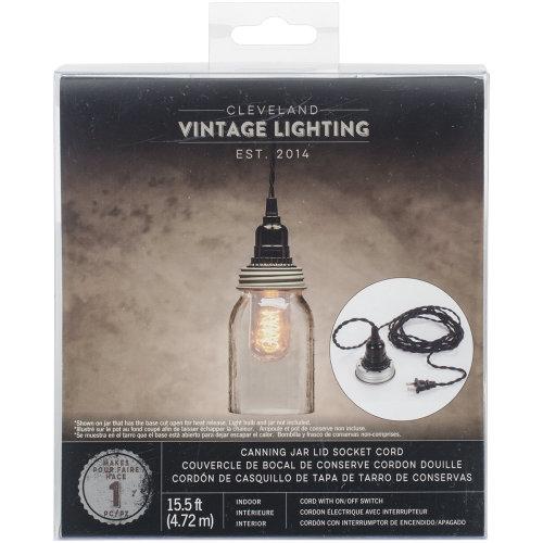 Canning Lid W/Lamp Socket-15.5' Cord