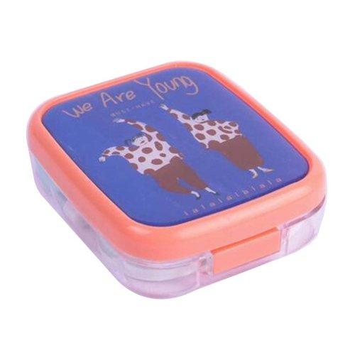 Lovely Stylish Contact Lenses Case Storage Holder Blue