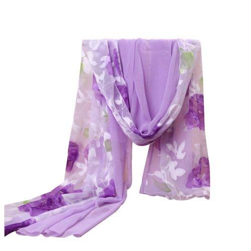 Cool Silk Scarves Chiffon Fabric Beach Towel Shawl Uv-blocking