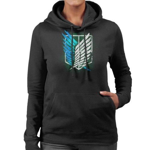 Attack On Titan Suvery Corps Cracked Wall Women's Hooded Sweatshirt