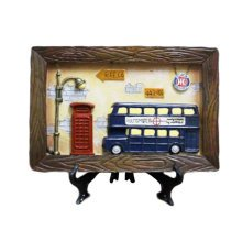 Wooden Frames Blue Bus Photo/Album Frame/ Nursery Picture Frames