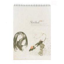 [Large Size] Retro Spiral Binding Artist Sketchbook Painting Book #09
