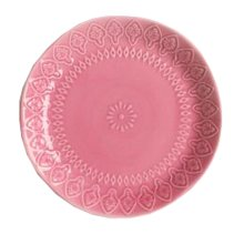 Ceramics Flat Dessert Cake Dish Platter Candy Dishes Wedding Salad Plate 8 Inch (Red)