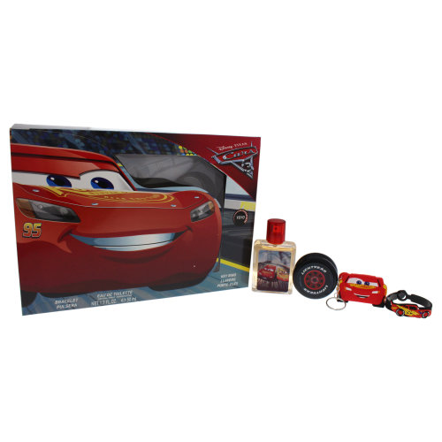 Disney Pixar Cars 3 - 4 Pc Gift Set 1.7oz EDT Spray, Bracelet, Key Ring, Yoyo