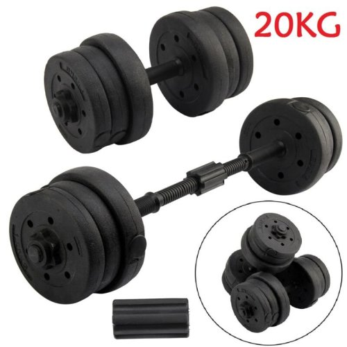20KG Weights Dumbbell Set Gym Workout Fitness Biceps Exercise Home Training