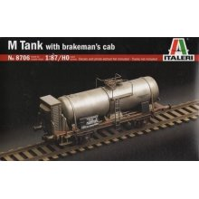 M TANK CAR WITH BRAKEMAN'S CAB - TRAINS 1:87 / HO - Italeri 8706