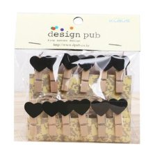 Mini Natural Wooden Clothespins Photo Paper Peg Pin Craft Clips with 2m Jute Twine, L