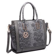 Miss Lulu Women Snake Print Handbag Shoulder Bag