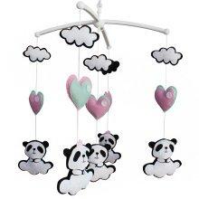 Colorful Decor Toy, Musical Mobile, [Panda] Hanging Crib Toy