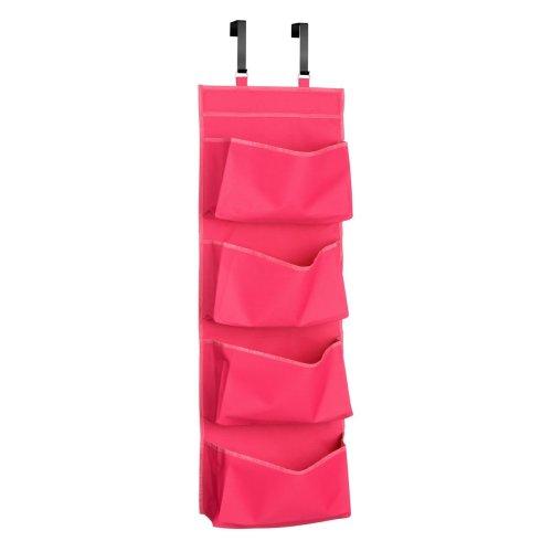 4-Tier Over Door Hanging Organiser - Hot Pink
