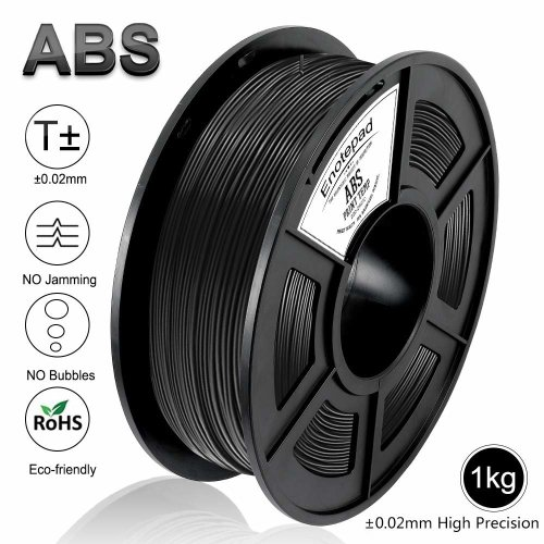 Enotepad Black ABS 3D Printer Filament, Dimensional Accuracy +/- 0.02 mm, 1kg/Spool,1.75 mm,Yollow,Eco-friendly Filament Suitable for 3D Printer/3D...