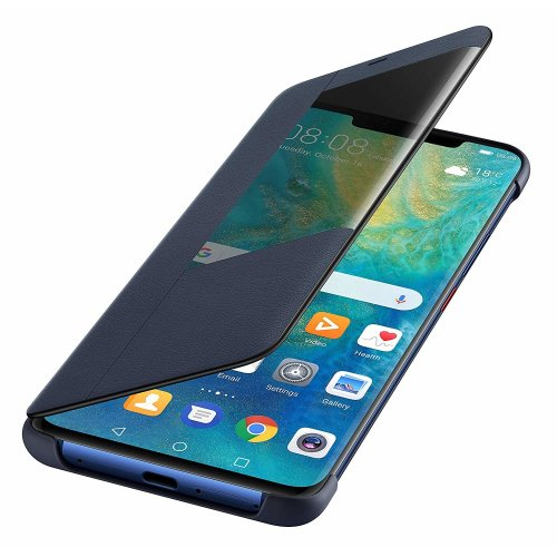 Official Huawei Mate 20 Pro Smart View Flip Cover - Deep Blue - 51992624