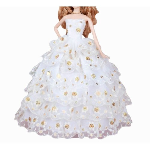 New Decent Beautiful Wedding Dress Skirt For 11.81-inch Doll-03