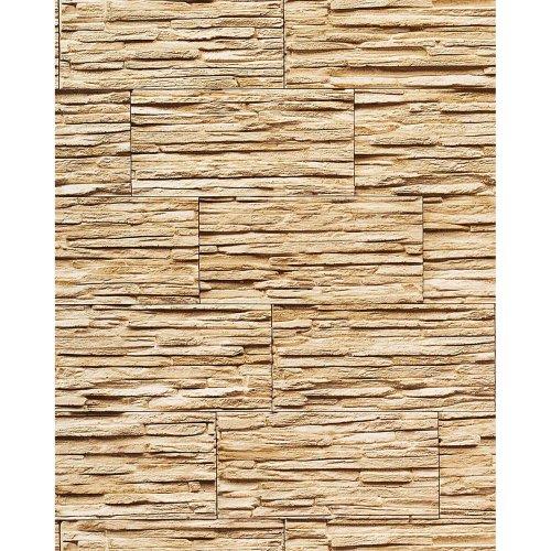 EDEM 1003-31 vinyl wallpaper textured stone natural brick sand beige   5.33 sqm