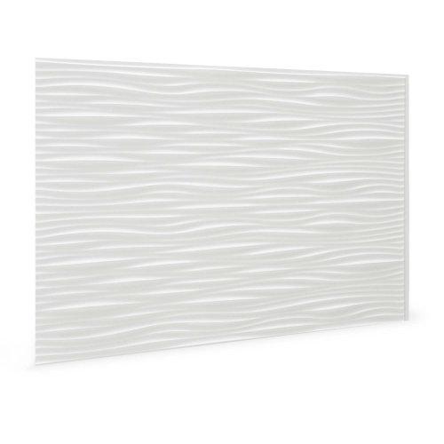 Profhome 3D 704551 Wilderness White Decor panel 3D shiny white 1,7 m2