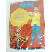 Large Children's Charlie Bucket Costume -  fancy dress costume roald dahl book charlie bucket boys kids week day character girls