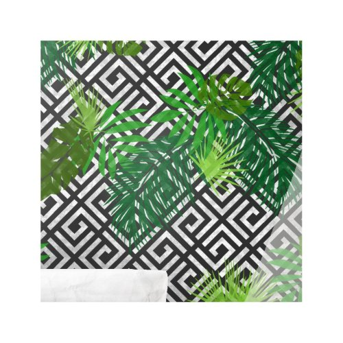GEO JUNGLE SET OF 8 Leaf  Furniture Wall Floor Stencil for Painting