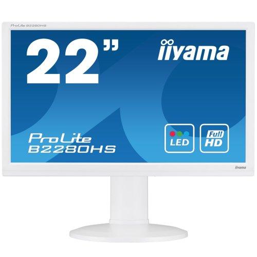 """iiyama ProLite B2280HS-W1 21.5"""" Full HD TN Matt White computer monitor"""