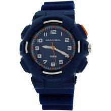 Cannibal Active Boys White Dial EL-Backlight Blue Plastic Strap Watch CJ272-05