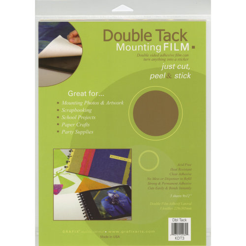 "Double Tack Mounting Film-9""X12"" 3/Pkg"