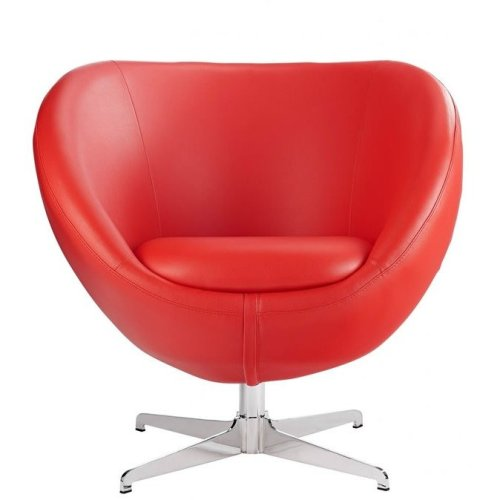 Balisy Modern Swivel Chair in Red Contemporary Funky Design