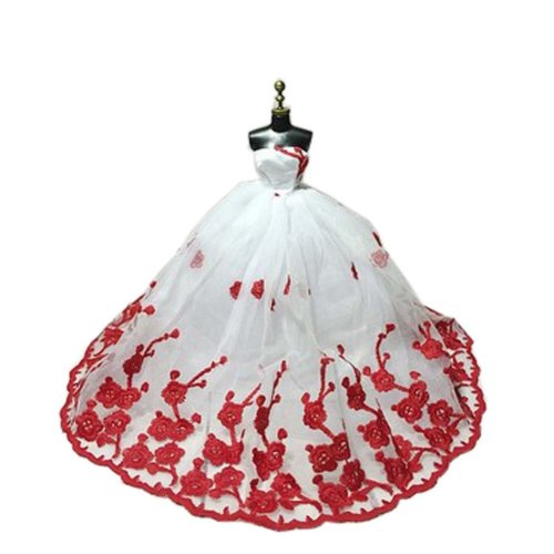 High-end Handmade Wedding Costume Luxurious Party Gown Dresses Princess Clothes for Dolls, Q