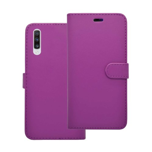 Wallet Flip Cover Case In Purple For Samsung Galaxy A70 2019
