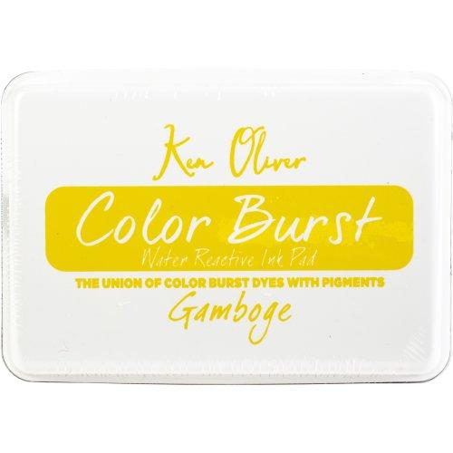 """Ken Oliver Color Burst 3.75""""X2.5"""" Stamp Pad-Gamboge"""