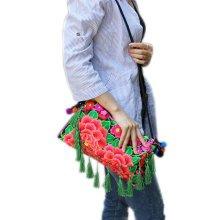 Embroidery Needlecrafts Handmade Embroidery, Tassel bag / Messenger Bag(A)