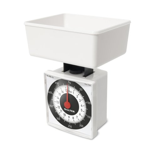 Salter Dietary Mechanical Kitchen Scales – 500g Capacity - White